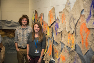 Student Matt LeBlanc and Alumni Elizabeth Lauer