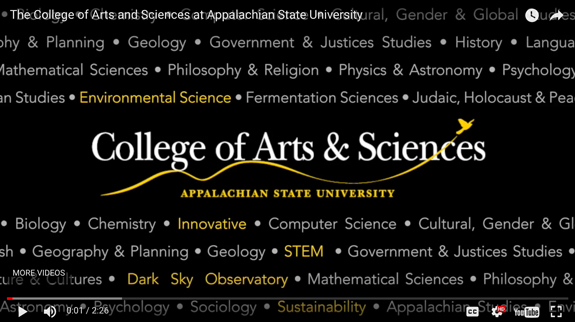 Experience the College of Arts and Sciences at Appstate