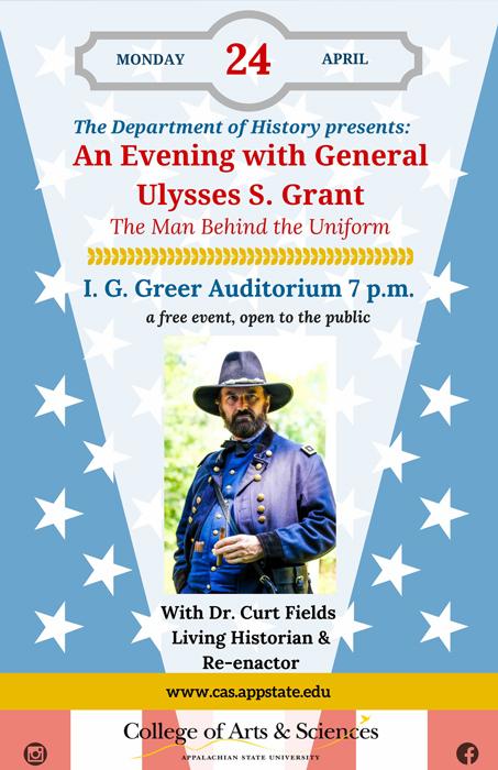 Curt Fields as U.S. Grant April 24