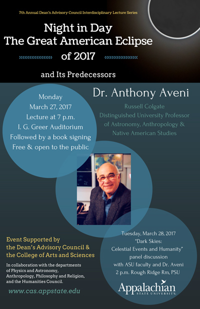 Anthony Aveni - Annual Dean's Advisory Council Lecture - March