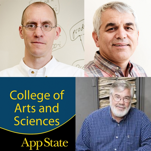 Dr. Rahman Tashakkori, named the Chair of the Department of Computer Science. Dr. Eric Marland, named the Chair of the Department of Mathematical Sciences and Dr. Zack E. Murrell, named the Chair of the Department of Biology at Appalachian State University.