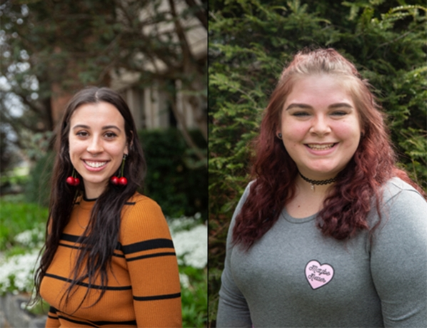 Sierra Cullars (on the right) was named the 2018-19 Truman Capote Literary Trust Scholarship for Creative Writing and Leah Wingenroth (on the left)  was this year's runner-up in the competition.
