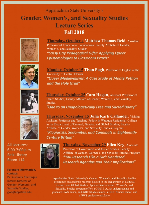 Gender, Women's and Sexuality Studies Lecture Series Fall 2018
