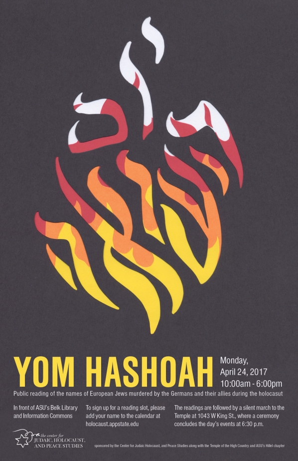 Yom HaShoah: Appalachian State and Boone Communities Remember Victims of the Holocaust on National Days of Remembrance