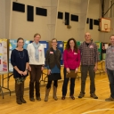 L to R: BRES teacher and curriculum coach Tania Rollins, Appalachian STEM faculty Dr. Jamie Levine, Geology; Dr. Tonya Coffey, Physics; Dr. Dana Powell, Anthropology; Dr. Michael Madritch, Biology; Dr. Bob Swarthout, Chemistry and Environmental Science. Not pictured: Dr. Saskia van de Gevel, Geography & Planning; and Dr. Gypsy Price, Anthropology.
