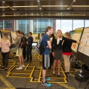 Students presenting their research posters at the 22nd annual Celebration of Student Research and Creative Endeavors in the Plemmons Student Union at Appalachian. Photo by Ellen Gwin Burnette.