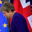 British Prime Minister Theresa May leaving the European Union summit in Brussels in October 2018, where the two sides failed to reach an agreement on Brexit. Image Source: Euronews