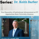 Poster for Graduate School Alumni Speaker Series with special guest Dr. Keith Barber