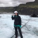 Hannah Godfrey, an Appalachian senior psychology major from Cary, on a glacier during personal travel. Photo submitted
