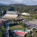 Aerial view of the west side of Appalachian State University's campus