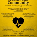 Stories of Caring, Health and Community, Humanities Council Fall Symposium poster
