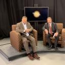 "Dr. Ozzie Ostwalt, Professor of Philosophy and Religion on the set of his AppTV program, ""Religion in Life"