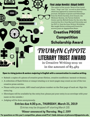 Truman Capote Scholarship Flyer