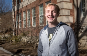 Josh Gregory, a senior majoring in Physics (BS) – Secondary Education, is a recipient of the Robert Noyce Teaching Scholarship. Photo by Marie Freeman