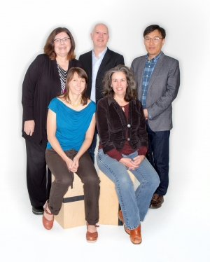 Recipients of the first Appalachian Innovation Scholars grants are, standing from left, Dr. Kyle Thompson, Dr. Paul Wallace, Dr. Ok-Youn Yu; seated, Anna Ward and Dr. Anne Fanatico.