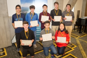 Pictured here are the Comprehensive level winners from the NCCTM State Mathematics Contest held at Appalachian State University on March 8. They will next compete at the state competition. Photo by Marie Freeman