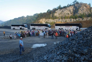 The first stop on the field trip was inside the Highway 105 Quarry operated by Vulcan Materials Company.