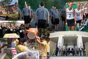 Collage of images from 2018 at Appalachian State University