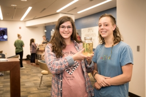 Appalachian State University students Kelsey Simon, left, and Ali Moxley took second place in the Food Solutions Challenge in April.