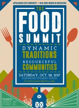 Appalachian State 2017 food summit, www.foodsumit.brwia.org