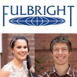 Student Ryan Hellenbrand and two-time alumna Megan Holt-Smith have each received a 2017 Fulbright award.