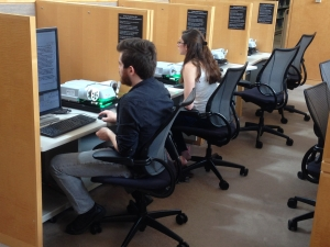 Appstate students research in the archives of the United States Holocaust Memorial Museum in Washington, D.C