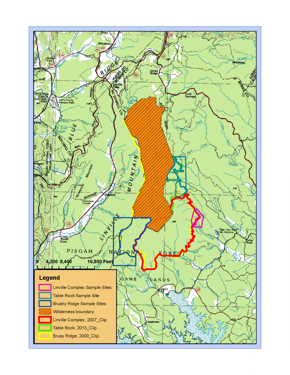 Linville Gorge Fire Map