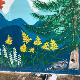 A closer look at the flora and fauna painted on the mural outside of Appalachian Brian Estates. Photo submitted.