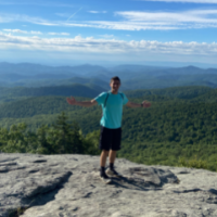 Michael Brackett, student records coordinator, College Advising and Support Services Hub (CASSH), hiking at Beacon Heights. Photo submitted