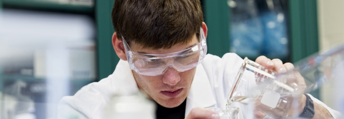 ASU student working in lab