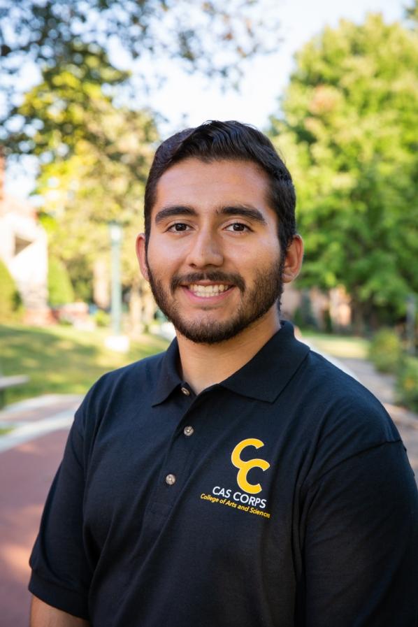 Andy Mendoza, Cell/Molecular Biology major, Chemistry minor. Photo by Ellen Gwin Burnette
