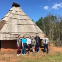 In Spring 2016, Alice Wright led her class titled Archaeology of the Native South on a fieldtrip to Morganton, where they visited ongoing excavations at the Berry site and the reconstructed Native American buildings at Catawba Meadows Park.