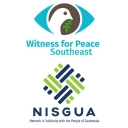 Network in Solidarity with the People of Guatemala (NISGUA) and Witness for Peace Southeast logos.