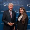 Caroline Federal and Bill Clinton