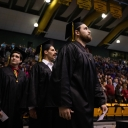 Graduates process into Appalachian State University's Holmes Convocation Center during Fall 2019 Commencement Dec. 13. Photo by Chase Reynolds