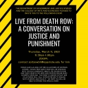 Live from Death Row: A Conversation on Justice and Punishment poster graphic