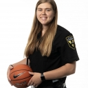 Bayley Plummer '19, a recent graduate of Appalachian's B.S. in criminal justice program who is continuing her Appalachian education by pursuing an MPA. She will continue to work part-time security shifts as an Appalachian police cadet while she earns her graduate degree and plays one more season as a center/forward for the Mountaineers women's basketball team. Photo by Chase Reynolds