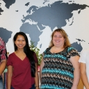 From left, Appalachian State University students Anna Cantrell, Mookho Paw, Barbara Ritchie and Ary Bautista Hernandez are recipients of a $2,500 scholarship to study abroad through the Institute of International Education's (IIE) Generation Study Abroad™ initiative. Photo courtesy of the Office of International Education and Development
