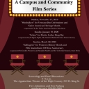 The Humanities Council presents Building a Just World film screening series poster