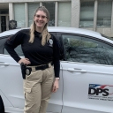 Kat Jones '17, B.S. in Sociology pictured in her new role as one of North Carolina's Probation/Parole Officers.
