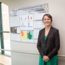 Tara Early created a poster that placed first in the undergraduate category of a competition organized by the Society of Environmental Toxicology and Chemistry. Photo by Marie Freeman