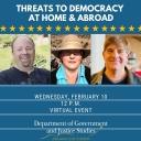 Discussion virtual event with Dr. Renee Scherlen, political science; Dr. Curtis Ryan, political science and Joseph Gonzalez, interdisciplinary studies - global studies.