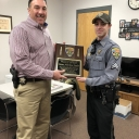 "Cpl. Matt Taylor was recently picked by the command staff at the Caldwell County Sheriff's Office to receive the ""2017 Employee of the Year"" award."