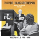 Public Zoom Lecture by Dr. Hank Greenspan