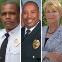 The guest panelists who participated in Appalachian State University's virtual Race and Police Forum, held Sept. 16 as part of the university's Constitution Day 2020 programming. Pictured, from left to right, are Charlotte-Mecklenburg Police Department Chief Johnny Jennings '90; Winston-Salem Police Department Assistant Chief Wilson Weaver '07; and Dr. Lorie Fridell, a nationally recognized scholar on issues relating to race and policing. Photos submitted