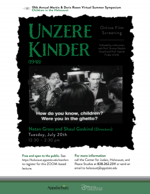 """Poster for the """"Unzere Kinder"""" screening. Graphic submitted."""