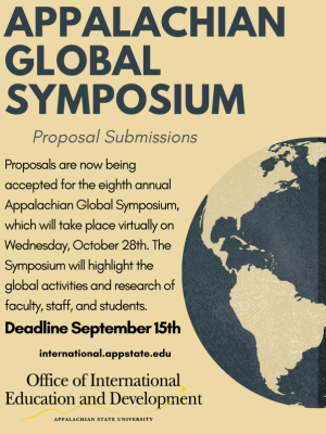 App State Global Symposium poster/graphic. Image provided.