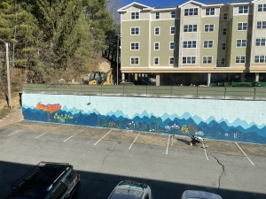 Aerial view of the mural outside of Appalachian Brian Estates. Photo submitted.