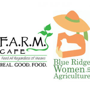 F.A.R.M. Cafe and Blue Ridge Women in Agriculture (BRWIA) logos. Graphics submitted.