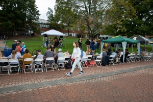 Participants last year on Sanford Mall enjoying Community FEaST at Appalachian State. Photo by Ellen Gwin Burnette.